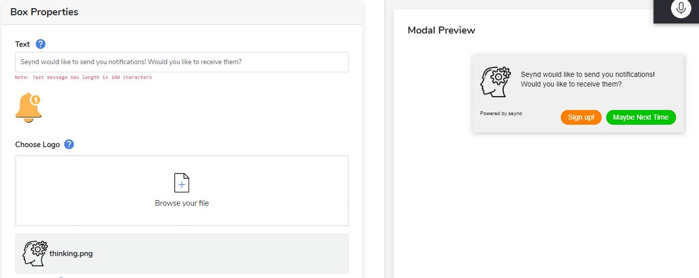 edit web push notification prompt logo